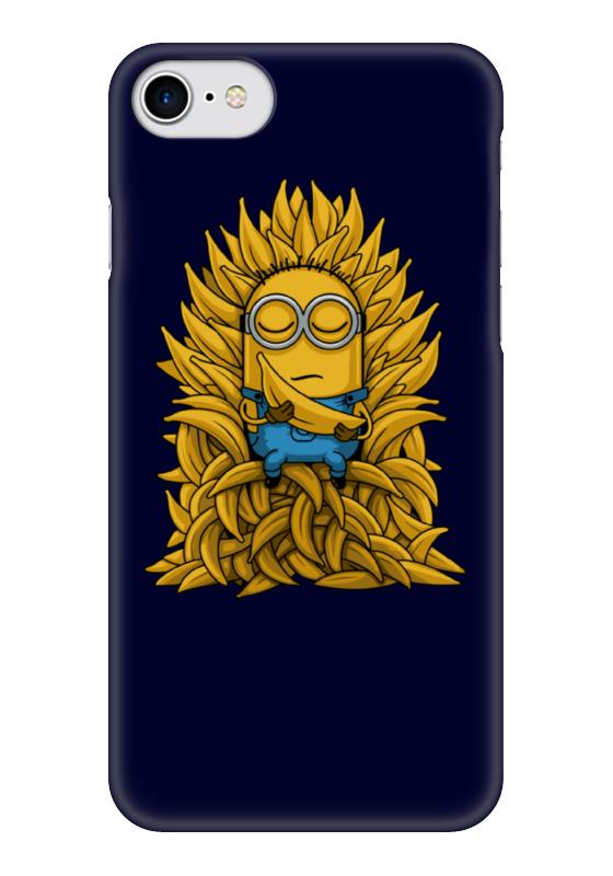 Чехол для iPhone 7 глянцевый Printio Миньоны. банана трон мазин а в трон императора