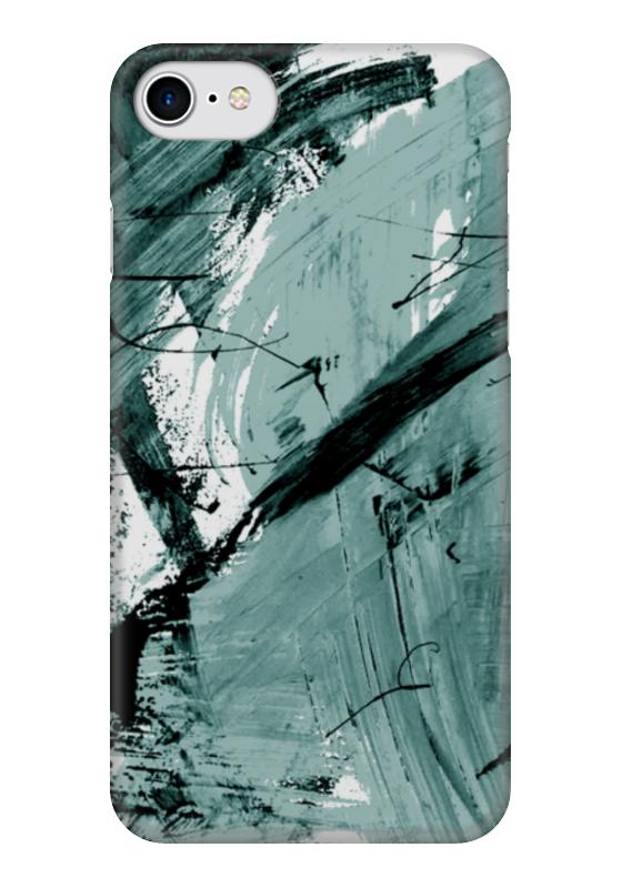 все цены на Чехол для iPhone 7 глянцевый Printio Волна онлайн