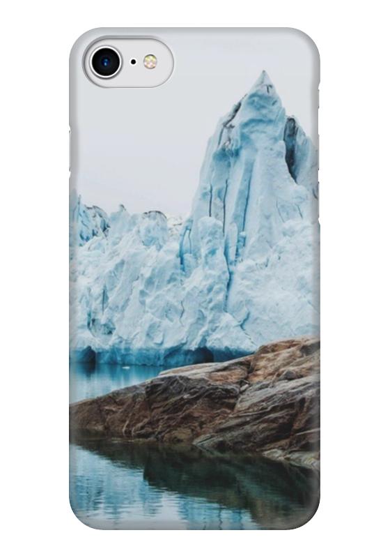 Чехол для iPhone 7 глянцевый Printio Айсберг пенал для ванной айсберг волна 30 левосторонний белый