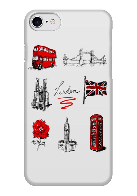 Чехол для iPhone 7 глянцевый Printio Лондон чехол для iphone 7 глянцевый printio альтрон мстители