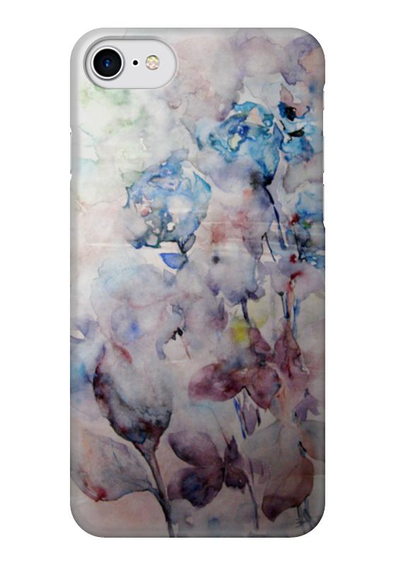 Чехол для iPhone 7 глянцевый Printio Зимние розы
