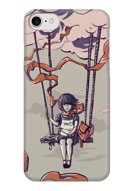 Чехол для iPhone 7 глянцевый Printio Девочка на воздушном шаре чехол для iphone 7 глянцевый printio сад на улице корто сад на монмартре