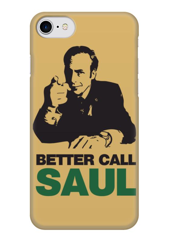 Чехол для iPhone 7 глянцевый Printio Better call saul какой iphone лучше для россии