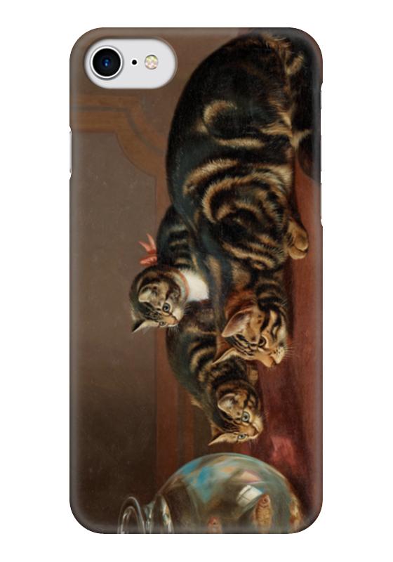 Чехол для iPhone 7 глянцевый Printio Cats by a fishbowl чехол для карточек who let the cats out дк2017 095