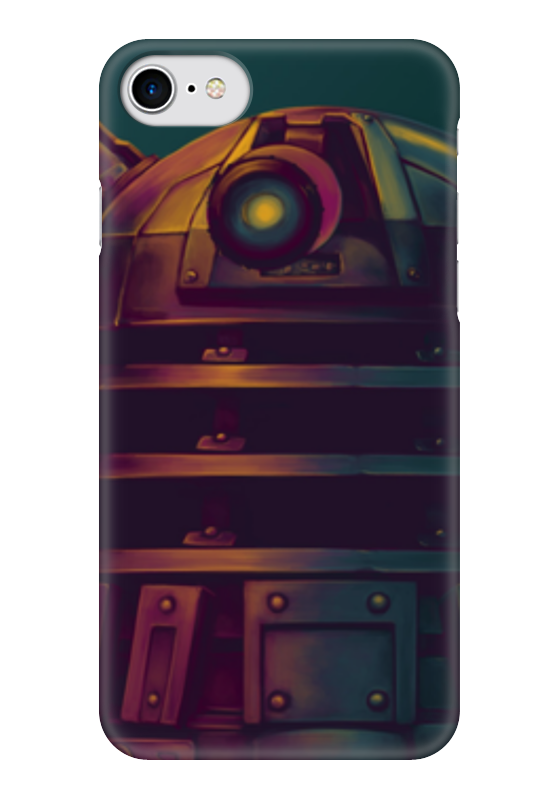 Чехол для iPhone 7 глянцевый Printio Далеки (доктор кто) чехол для iphone 7 глянцевый printio time lord doctor who