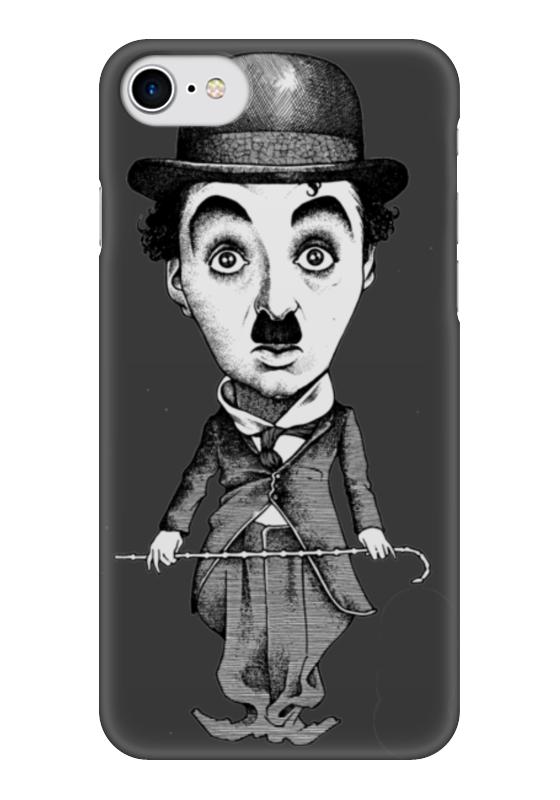 Чехол для iPhone 7 глянцевый Printio Charlie chaplin who was charlie chaplin