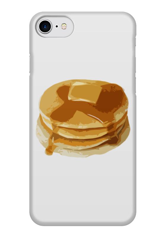 Чехол для iPhone 7 глянцевый Printio Блины с маслом блины и блинчики