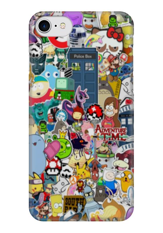 Чехол для iPhone 7 глянцевый Printio Мультфильмы