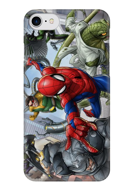 Чехол для iPhone 7 глянцевый Printio Человек-паук / spider-man spider man человек паук на боевой машине page 7