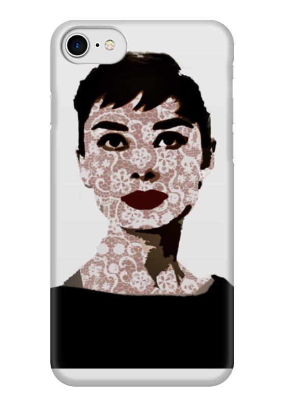 Чехол для iPhone 7 глянцевый Printio Audrey hepburn чехол