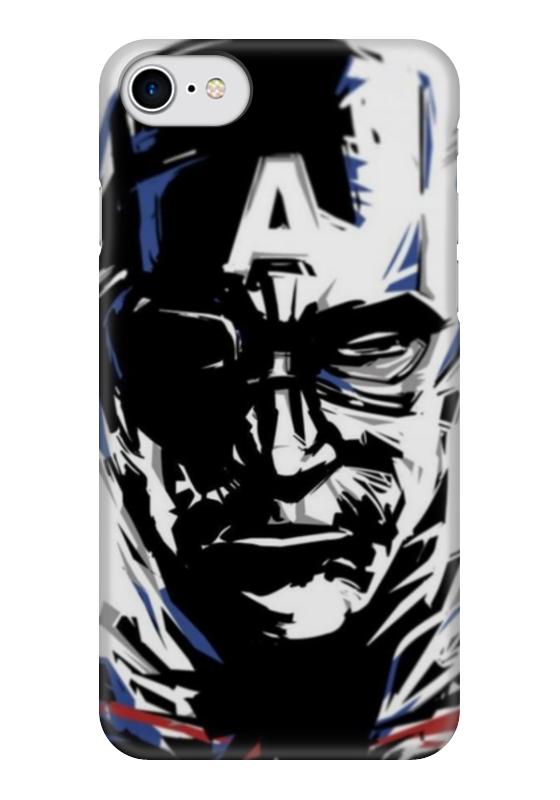 Чехол для iPhone 7 глянцевый Printio Капитан америка чехол для iphone 7 глянцевый printio щит капитан америка