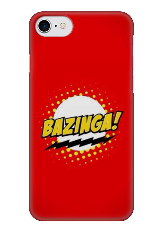 Чехол для iPhone 7 глянцевый Printio Bazinga чехол для iphone 7 глянцевый printio lp chester benningtonkeys to the kingoom