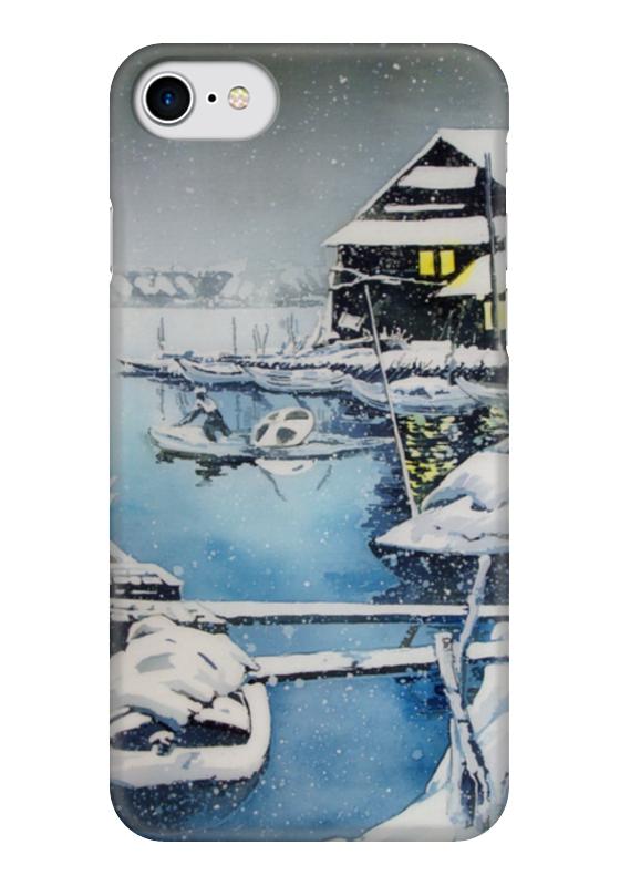 Чехол для iPhone 7 глянцевый Printio Зима в японии. музыка цунами в японии