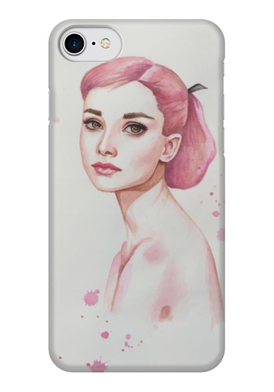 Чехол для iPhone 7 глянцевый Printio Одри хепберн