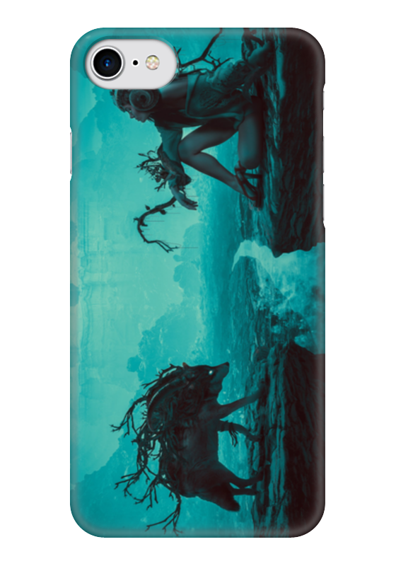 Чехол для iPhone 7 глянцевый Printio Мать волчица анна анакина на краю обрыва…