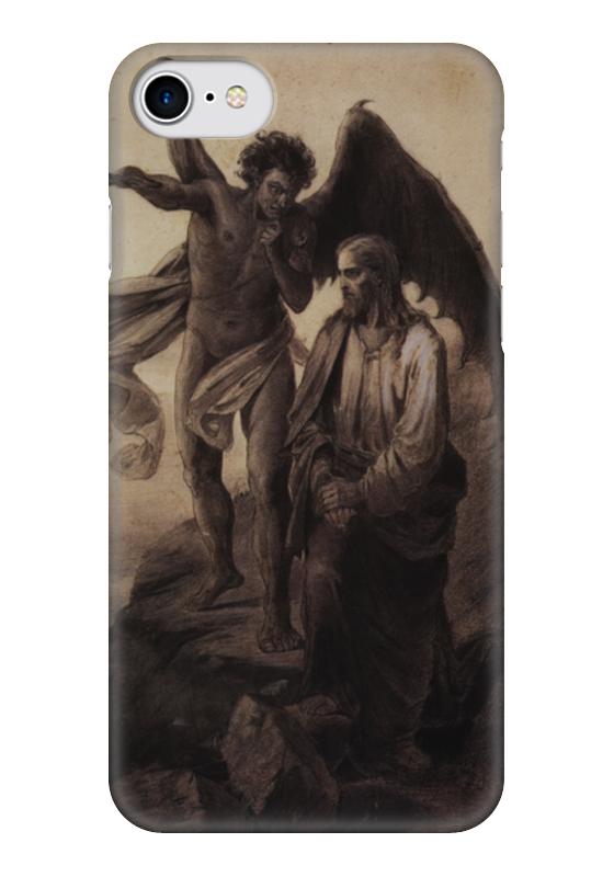 Чехол для iPhone 7 глянцевый Printio Искушение христа (василий суриков) рюкзак с полной запечаткой printio искушение христа василий суриков