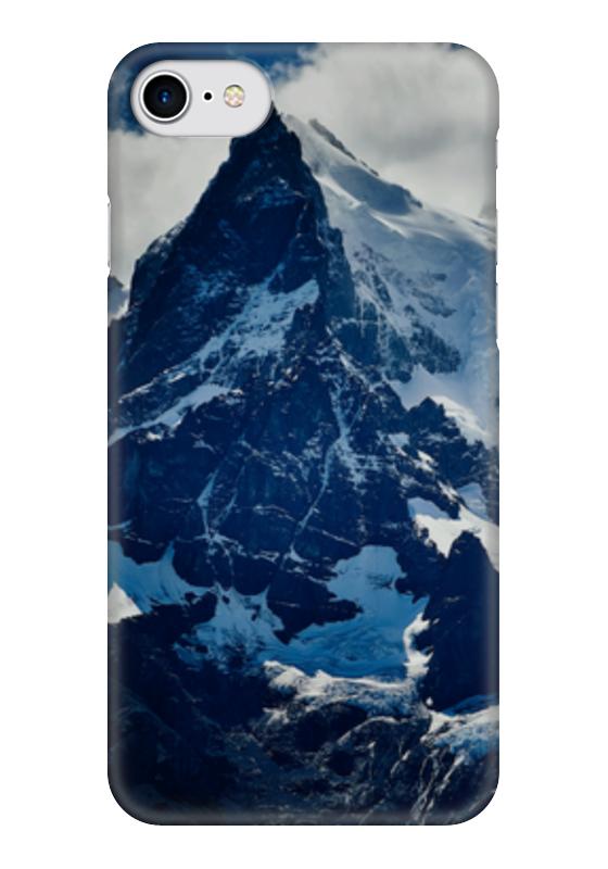 Чехол для iPhone 7 глянцевый Printio Холодные горы чехол для iphone 7 plus глянцевый printio холодные воды