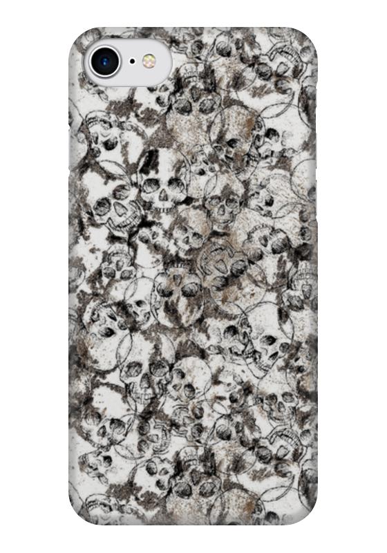 Чехол для iPhone 7 глянцевый Printio Skull art чехол для iphone 7 глянцевый printio мечты витторио коркос