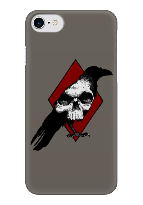 Чехол для iPhone 7 глянцевый Printio Ворон череп футболка print bar ты мой