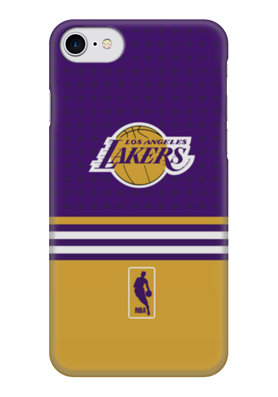 Чехол для iPhone 7 глянцевый Printio Lakers case pro чехол для iphone 5 глянцевый с полной запечаткой printio lakers case pro