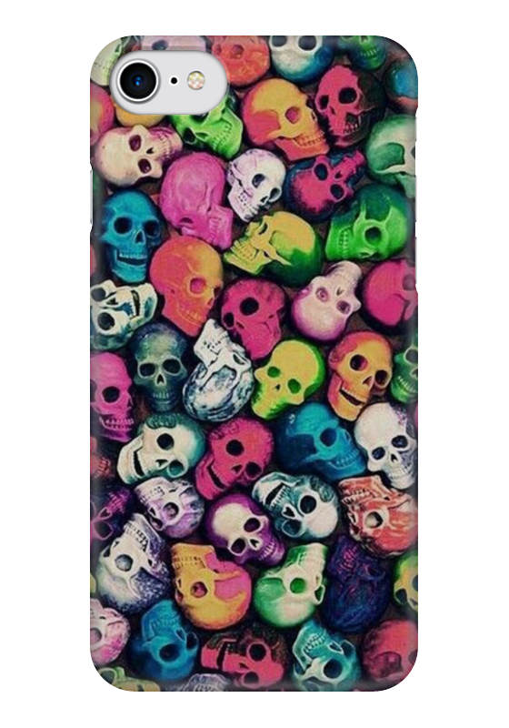 Чехол для iPhone 7 глянцевый Printio Skull art чехол для iphone 7 глянцевый printio skull art