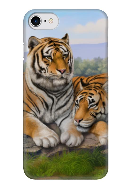 Чехол для iPhone 7 глянцевый Printio Тигры чехол для iphone 7 глянцевый printio сад на улице корто сад на монмартре