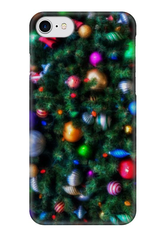 Чехол для iPhone 7 глянцевый Printio Нарядная елка (живопись)