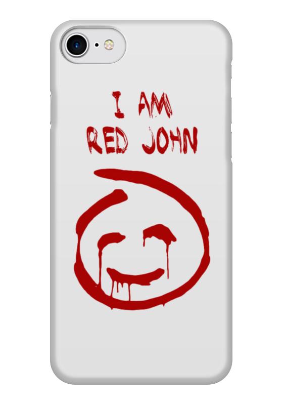 Чехол для iPhone 7 глянцевый Printio Смайлик red john (the mentalist) чехол для iphone 7 глянцевый printio lp chester benningtonkeys to the kingoom