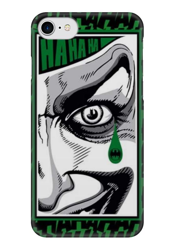Чехол для iPhone 7 глянцевый Printio Batman teardrop - the joker лонгслив printio ice king x batman