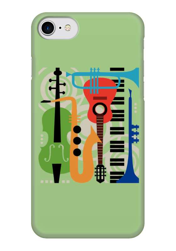 Чехол для iPhone 7 глянцевый Printio Музыкальные инструменты