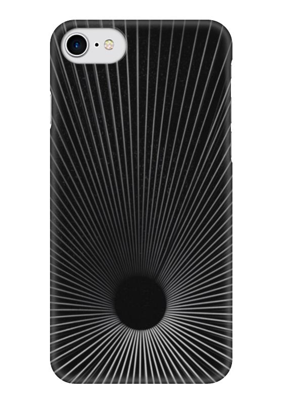Чехол для iPhone 7 глянцевый Printio Черная дыра какой iphone лучше для россии