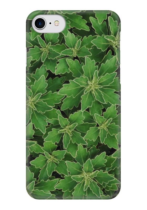 Чехол для iPhone 7 глянцевый Printio Зеленые листья heavy duty acrylite adhesive pair
