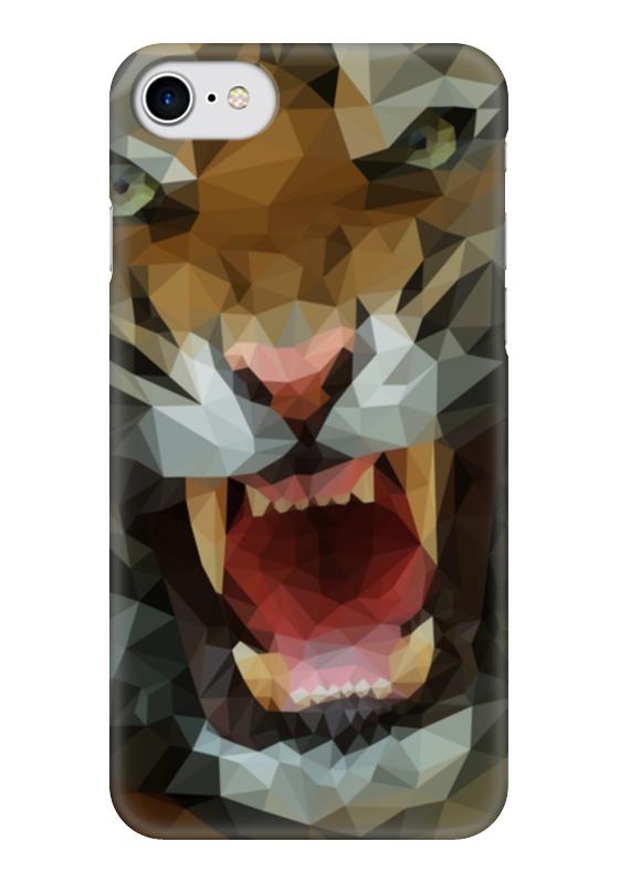 Чехол для iPhone 7 глянцевый Printio Polygon tiger чехол для iphone 7 глянцевый printio динозаврики