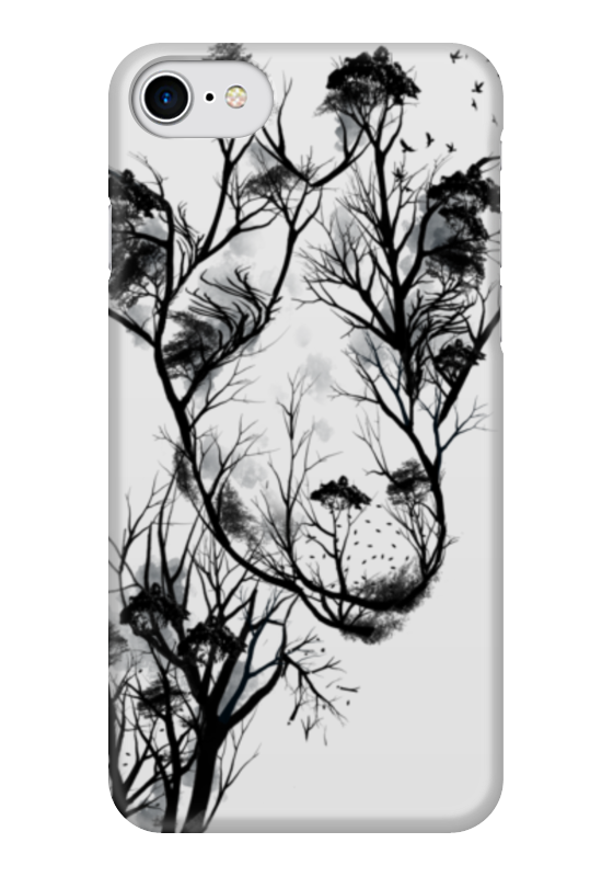 Чехол для iPhone 7 глянцевый Printio Жираф чехол для iphone 7 глянцевый printio horror art