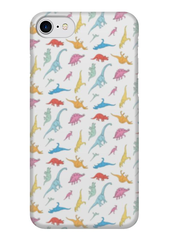 Чехол для iPhone 7 глянцевый Printio Динозаврики чехол для iphone 7 глянцевый printio динозаврики