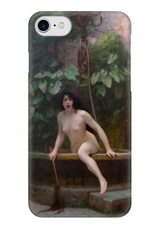 Чехол для iPhone 7 глянцевый Printio Истина, выбирающаяся из колодца (жан-леон жером) обложка для паспорта printio жан рено леон