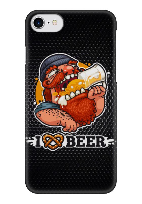 Чехол для iPhone 7 глянцевый Printio Я люблю пиво (i love beer) чехол для iphone 5 глянцевый с полной запечаткой printio i love kill