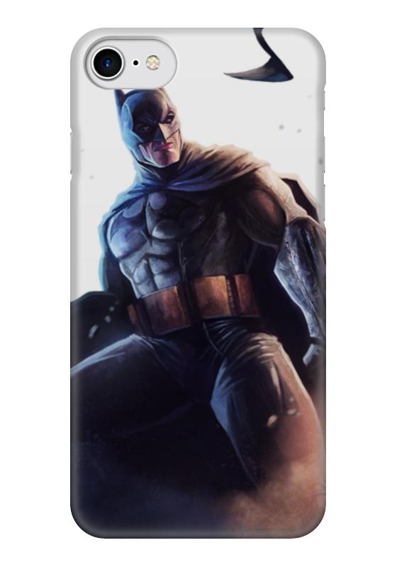 Чехол для iPhone 7 глянцевый Printio Бэтмен printio чехол для iphone 7 глянцевый