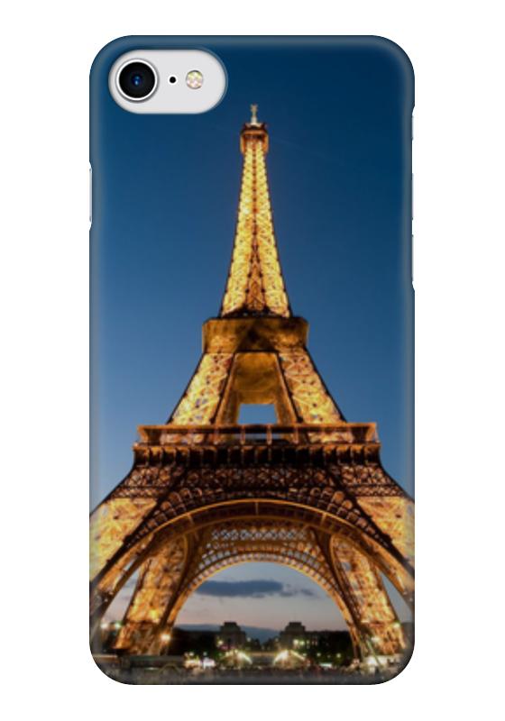 Чехол для iPhone 7 глянцевый Printio Эйфелева башня ограничители для книг magic home ограничитель для книг эйфелева башня