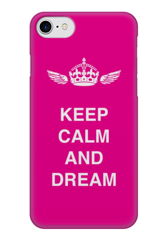 Чехол для iPhone 7 глянцевый Printio Keep calm and dream футболка wearcraft premium printio keep calm