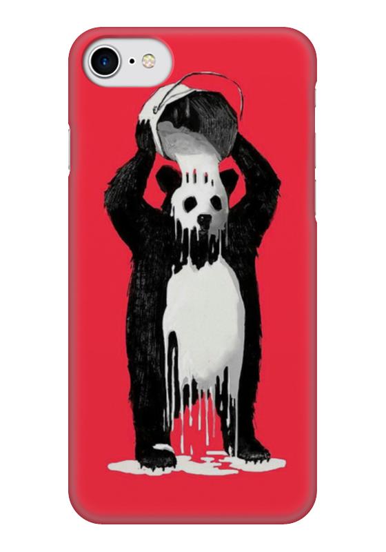 Чехол для iPhone 7 глянцевый Printio Панда в краске позиционеры для сна candide позиционер с подголовником воздухопроницаемая панда air