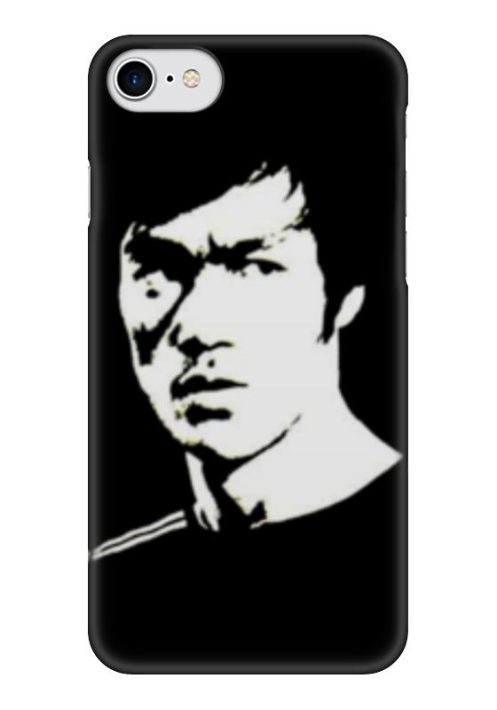 Чехол для iPhone 7 глянцевый Printio Bruce black/white чехол для iphone 5 глянцевый с полной запечаткой printio bruce black white