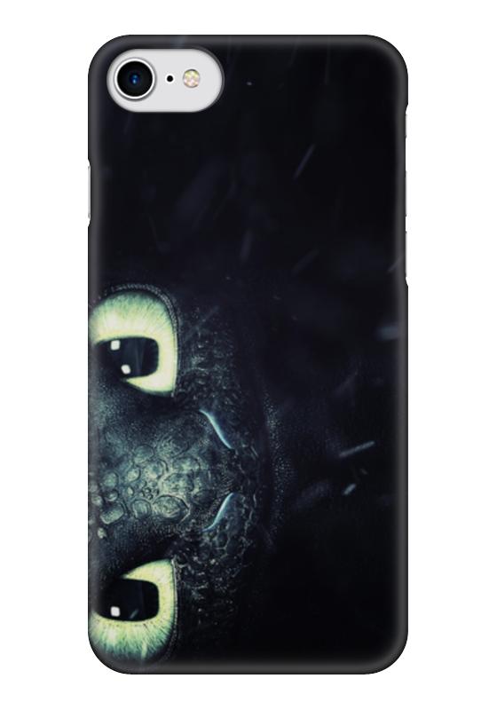 Чехол для iPhone 7 глянцевый Printio Ночная фурия (как приручить дракона)