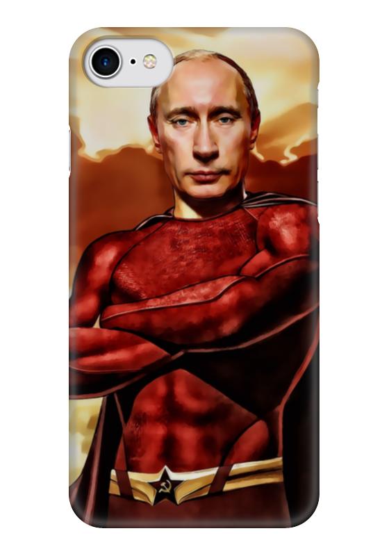 Чехол для iPhone 7 глянцевый Printio Путин суперчеловек чехол для iphone 5 глянцевый с полной запечаткой printio путин суперчеловек