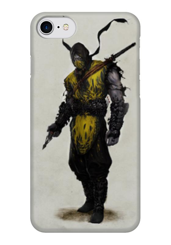 Чехол для iPhone 7 глянцевый Printio Mortal kombat x scorpion