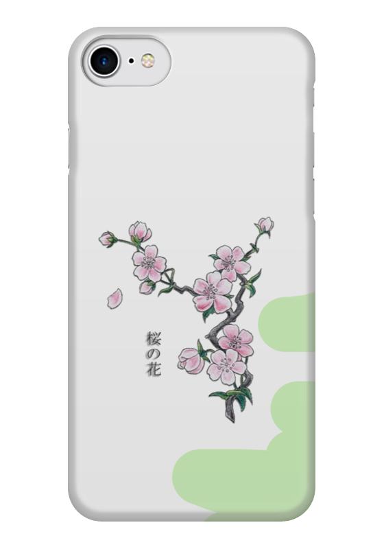 Чехол для iPhone 7 глянцевый Printio Японская сакура как распила из японии на запчасти