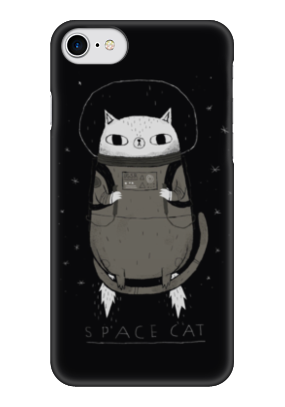 Чехол для iPhone 7 глянцевый Printio Space cat аксессуар чехол rock space ring holder ��ля iphone 7 light blue 47536