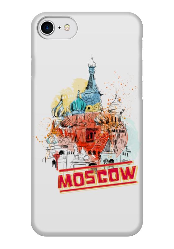 Чехол для iPhone 7 глянцевый Printio Москва