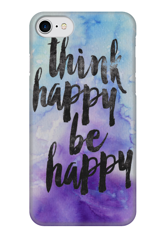 Чехол для iPhone 7 глянцевый Printio Think happy be happy чехол для iphone 5 глянцевый с полной запечаткой printio may the force be with you