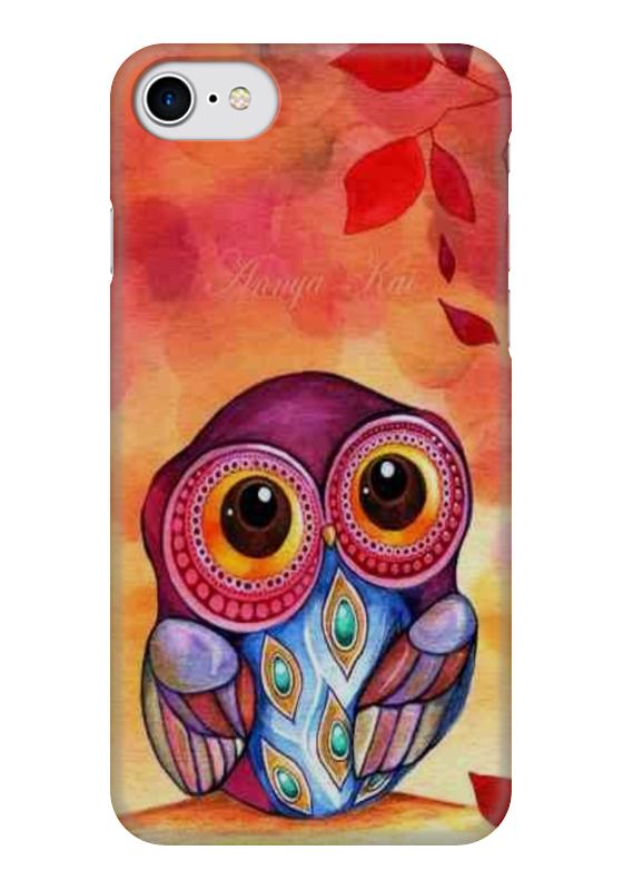 Чехол для iPhone 7 глянцевый Printio Совушка набор для плетения lori брелоки совушка из бусин от 7 лет бус 034